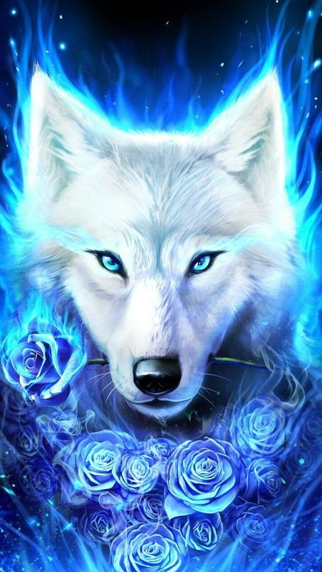 Mywalls With Images Ice Wolf Wallpaper Wolf Spirit Animal