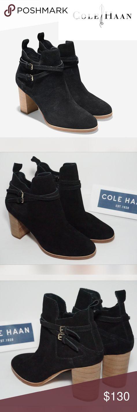 cole haan linnie stacked heel bootie