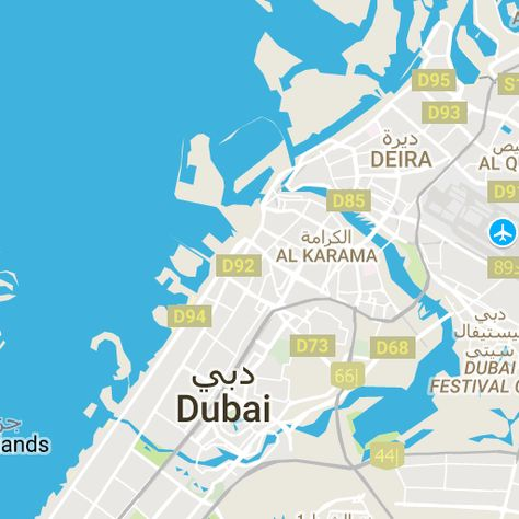 Interactive Map Of Dubai With All Popular Attractions Burj