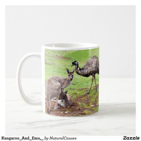 Emu Lover Gift Watercolor Emu Coffee Mug Emu Coffee Mug