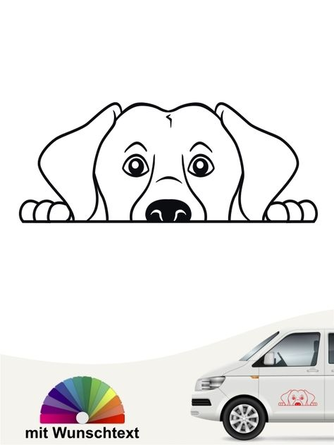 Labrador Retriever Comic 1 Aufkleber Mit Eigenem Text Labrador Schosshund Labrador Retriever