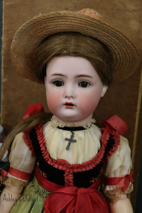Antique Kammer Reinhardt 403 Walker Doll 18 in Original Box Costume Love | eBay
