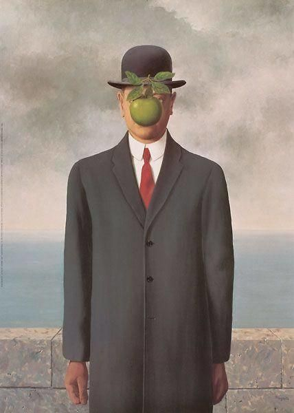 Rene Magritte Oil Painting Replica of The Son of Man, Hand Painted on Canvas Good Quality Art Decor for Home Wall Famous Art Paintings, Famous Artwork, Classic Paintings, Famous Art Pieces, Max Ernst Paintings, Wall Paintings, Rene Magritte, Surealism Art, Painting Art