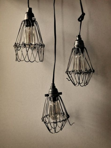 diy industrial pendant lamps on shelterness