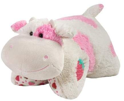 Pillow Pets Sweet Scented Pets Strawberry Milkshake Cow Strawberry Milkshake Scented Stuffed Animal Pl Animal Pillows Cute Stuffed Animals Animal Plush Toys