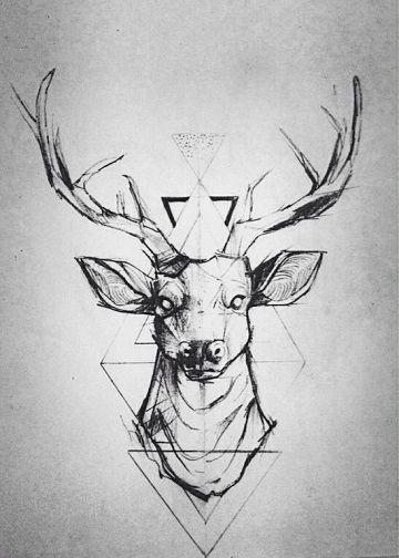 Geometric Design Tattoo Geometrictattoos Deer Skull Tattoos Deer Tattoo Designs Geometric Tattoo Deer