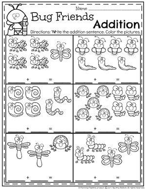 Addition Worksheets Kindergarten Addition Worksheets Math