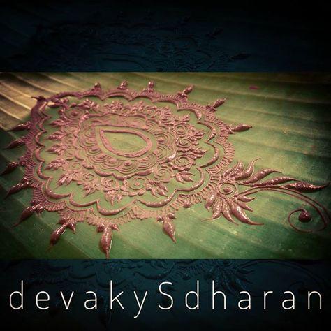 Henna on leaves