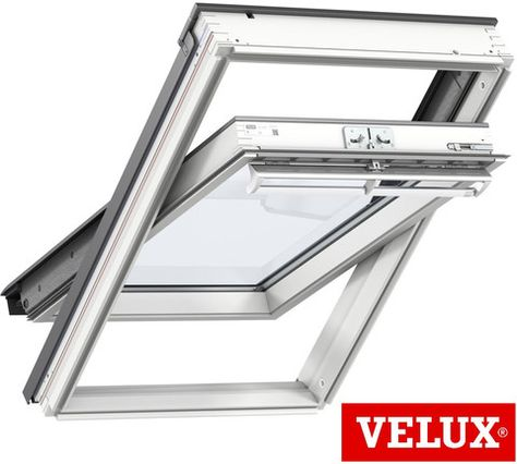 Velux Ggu 0070 Ck02 55x78 White Centre Pivot Window Roof