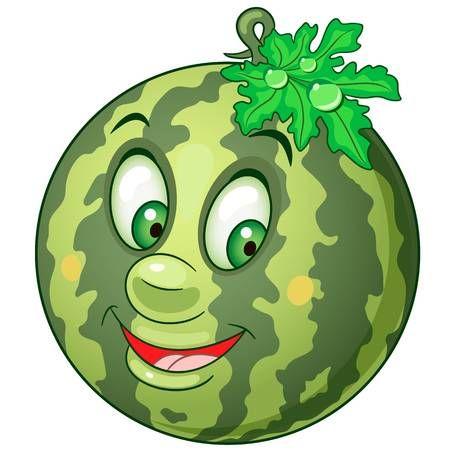 Icono De Dibujos Animados Sandia Caracter De Frutas Para Colorear Para Ninos Etiquetas Parches O Pegatinas Frutas Para Colorear Dibujos De Frutas Dibujos