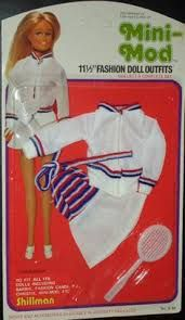 Vintage Bobbi Fashions Doll Underwear Clothes Outfit Fits Barbie NOS 1960s White