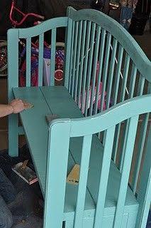 Repurposed baby cribs