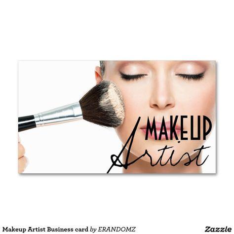Shop Makeup Artist Business card created by ERANDOMZ.