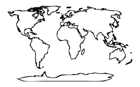 Dibujos De Mapamundi Para Colorear Dibujos Para Colorear Coloreartv Com Mapamundi Dibujo Mapamundi Para Imprimir Mapa Dibujo