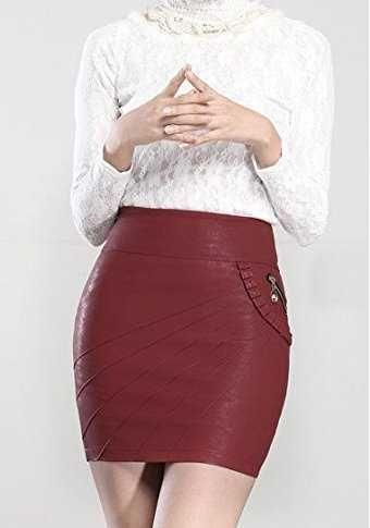 eb6413381 Helan faldas de cuero para mujer Ofertas especiales y promociones ...