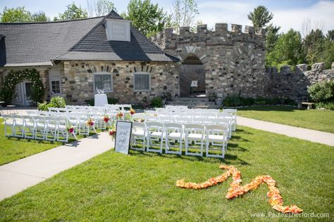 Knights Castle Courtyard Wedding Castle Farms Charlevoix Michigan