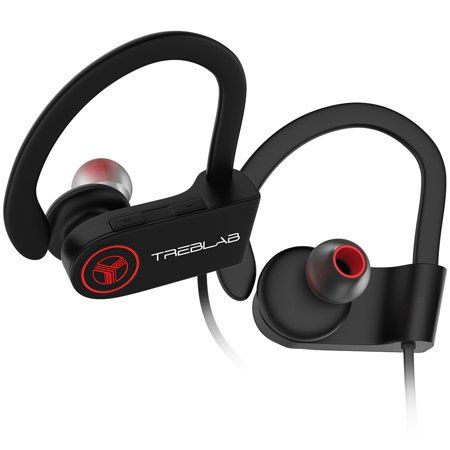 Treblab Xr100 Bluetooth Sports Headphones Wireless Earbuds For Running Workout Secure Fit Earhooks Noise Cancelling Sweatproof Cordless Headset For Gym Use E Headphones Wireless Gaming Headset Headset