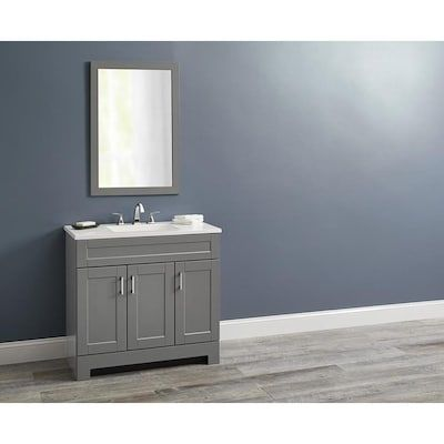 Style Selections Gladmere 36 5 In Graphite Single Sink Bathroom