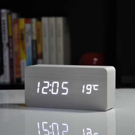 Digital Voice Table Clock Table Clock Cool Digital Clocks