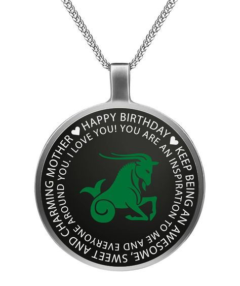 Capricorn Mother Birthday Necklace Gift.  #CapricornMom,#CapricornZodiac,#CapricornGift,#CapricornMother