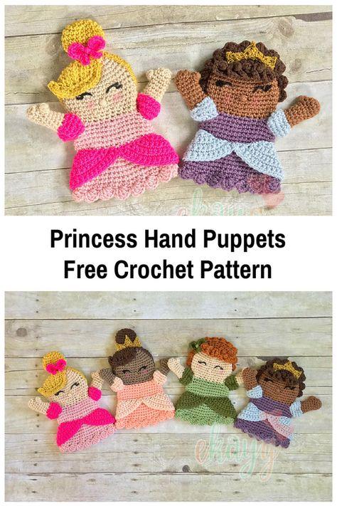 Cute Princess Hand Puppet Free Crochet Pattern | Fun Stuff for Barbi ...