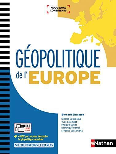 Telecharger Geopolitique De L Europe Francais Pdf Par Frederic Santamaria Dominique Hamon Telecharger Votre