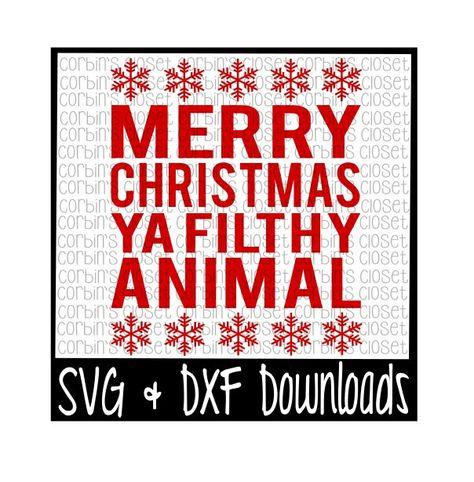 Merry Christmas Ya Filthy Animal Svg.Merry Christmas Ya Filthy Animal Winter Home Alone Funny T