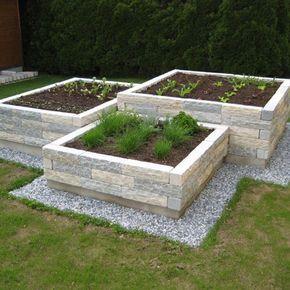 Hochbeet Naturstein Hinterhof Garten Natursteine Garten Garten Hochbeet