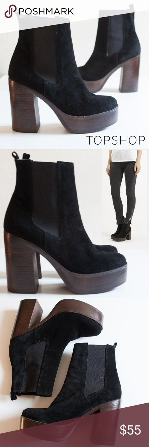e665abd2a01 Topshop Holly  70s Platform Ankle Boot These Topshop ankle boots oozes  retro appeal with it s