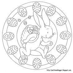 La Boite A Idees De L Atelier 3b Diy Paques Mandala Ostern Ausmalbilder Ostern Ostern Grundschule