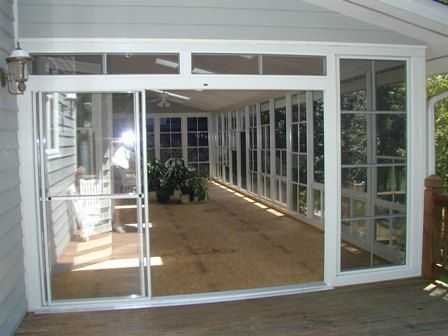porch enclosure systems during conversion screen u0026 vinyl sliders to open up the entrance all for house pinterest porch enclosures porches and