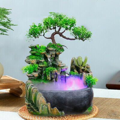 Water Feature Tranquil Zen Relax Indoor Led Light Fountain Ornament Fengshui Usa Ebay In 2020 Feng Shui Water Fountain Waterfall Fountain Indoor Water Fountains