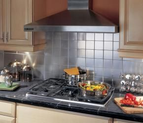 Self Adhesive Stainless Steel Backsplash Tiles Dsp Stainless Steel Backsplash Stainless Steel Tile Backsplash Steel Backsplash