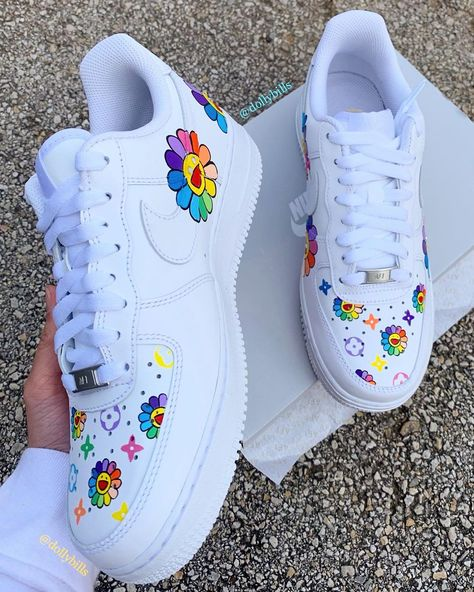 Behind The Scenes By dollybills Custom Painted Shoes, Custom Shoes, Nike Custom, Custom Af1, Sneakers Fashion, Fashion Shoes, Runway Fashion, Nike Shoes Air Force, Air Force Sneakers