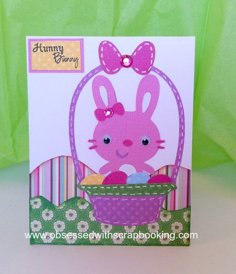 Obsessed With Scrapbooking Easter Hunny Bunny Card Black Unicorn