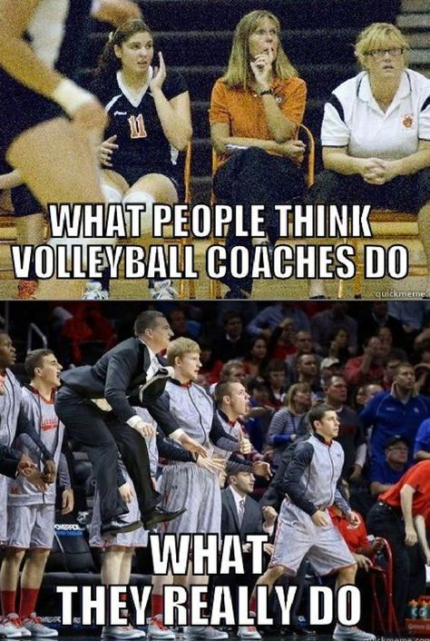 Except my my coach jumps ten times higher and yells ten times louder volleyball memes,