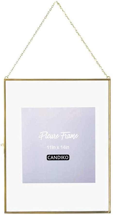 Amazon Com Candiko 11x14 Collage Picture Frame Large Floating Multiple Hanging Metal Photo Frame Gold Portrait In 2020 With Images Metal Photo Frames