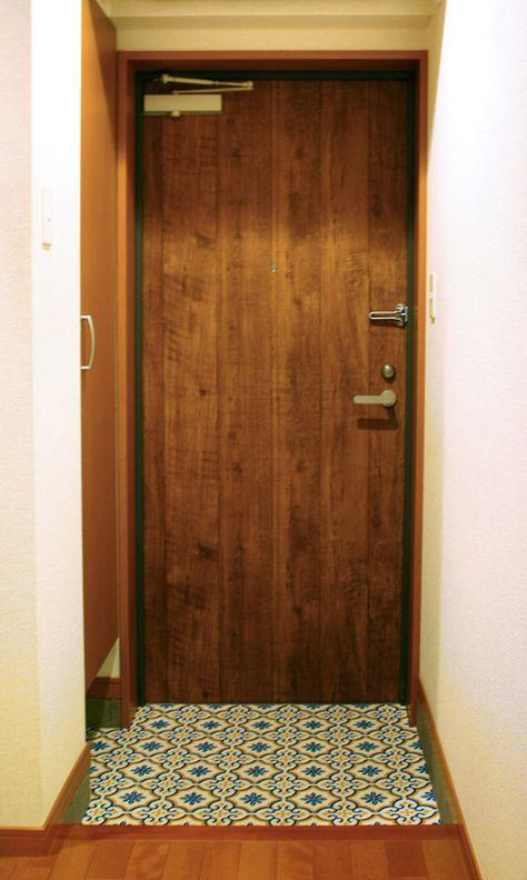 賃貸ドアのリメイク Bricolage 賃貸 インテリア 玄関 リメイク