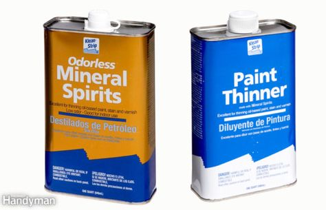 Mineral Spirits Vs Paint Thinner Mineral Spirits Paint Thinner Oil Paint Brushes