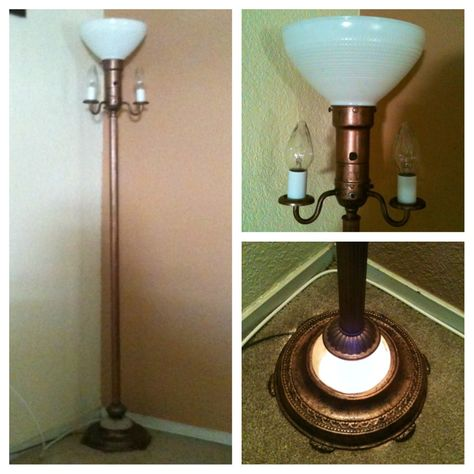 Vintage floor lamp. rewired and repainted. without lamp
