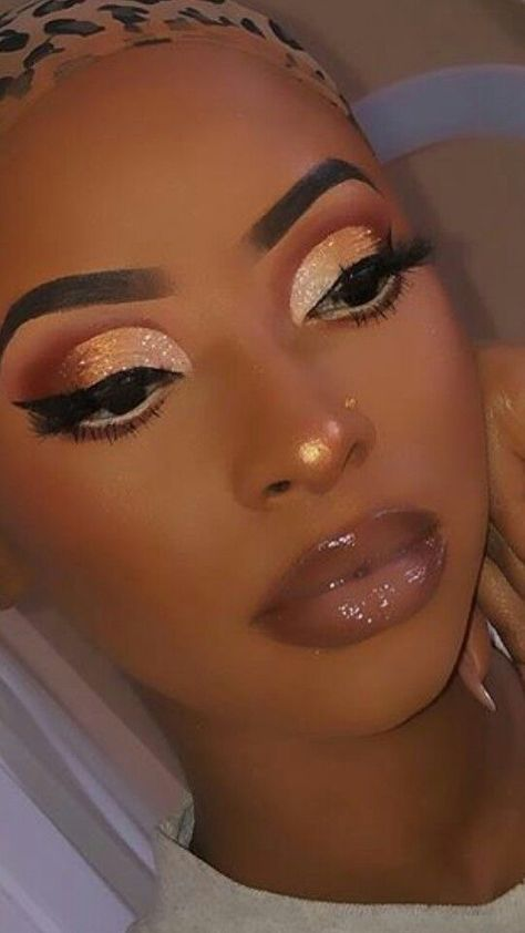 Makeup For Black Skin, Black Girl Makeup, Girls Makeup, Black Wedding Makeup, Dope Makeup, Glam Makeup Look, Glamour Makeup, Cute Makeup Looks, Makeup Eye Looks