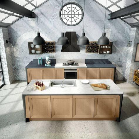 Cucina con l\'isola: in genere divise in due blocchi | italian house ...