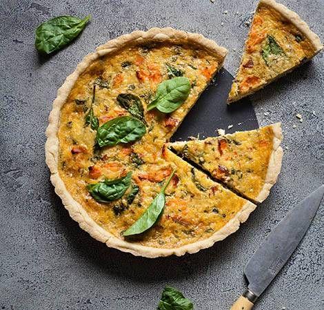 Smoked Salmon And Spinach Quiche Recipe Vitamix Quiche Recipes Spinach Quiche Recipes
