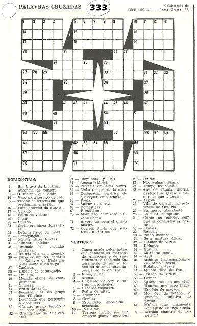 Palavras Cruzadas Para Imprimir 9 Palavras Cruzadas Para