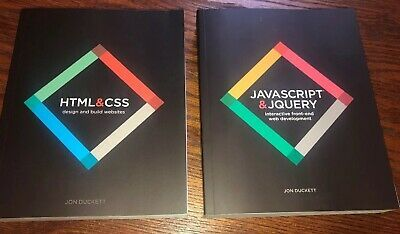Web Design With Html Css Javascript And Jquery Set Paperback By John Duckett 9781118907443 Ebay Javascript Jquery Css