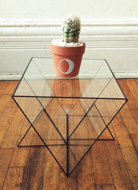 Geometric Glass Furniture