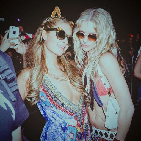 Sporting Kitty Ears On The Empire Polo Grounds - Paris Hilton's Most Daring Festival Fashion Moments - Photos
