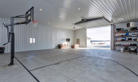 14 Metal Building Garage Game Room Ideas Pole Barn Homes Home Basketball Court Metal Building Homes