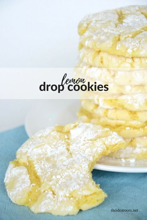 Only 3-ingredients to make theseLemon Cookies. These Lemon Drop Cookies are made From A Lemon Cake Mix....this Cookie Recipe Couldn't Be Easier! Our Lemon Cake Mix Cookies Are The Perfect Summer Treat! #lemon #lemoncookies #cookierecipes #lemondropcookies #cookies #desserts #lemonrecipes #lemoncrinklecookies #dropcookies
