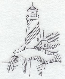 Nautical Lighthouse Sketch Personalized Dish Kitchen Hand Towels